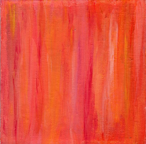 Red and orange acrylic abstract painting by Christopher Stanton