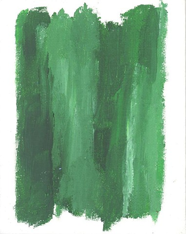 Green abstract painting by Christopher Stanton