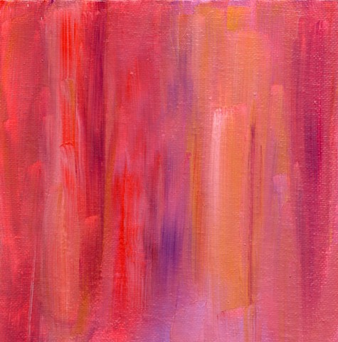 Red abstract acrylic painting by Christopher Stanton
