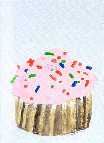 Painting of a cupcake by Christopher Stanton