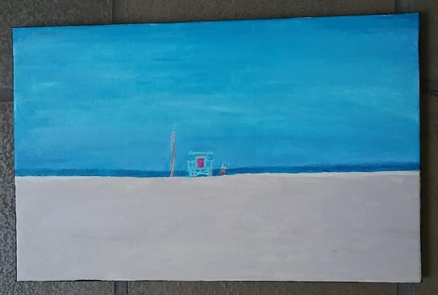 Acrylic painting of Venice Beach by Christopher Stanton