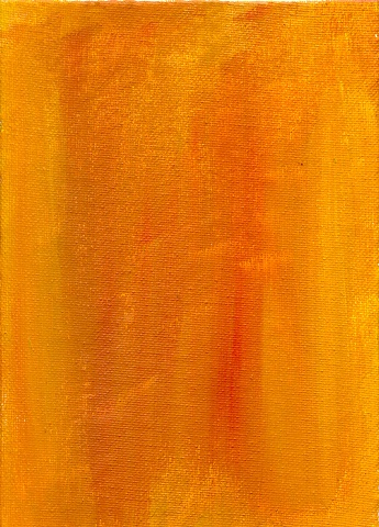 Orange abstract painting by Christopher Stanton