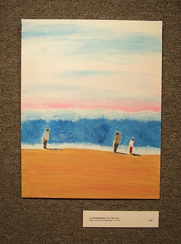 Acrylic painting of a beach scene by Christopher Stanton