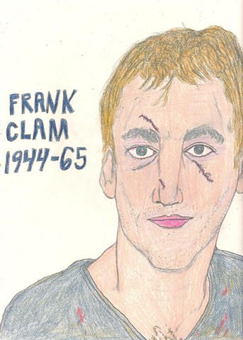 Portrait of Imaginary Hockey Bruiser Frank Clam by Christopher Stanton
