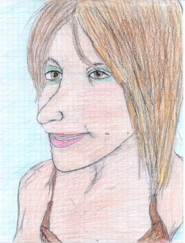 Drawing of Kristi by Christopher Stanton