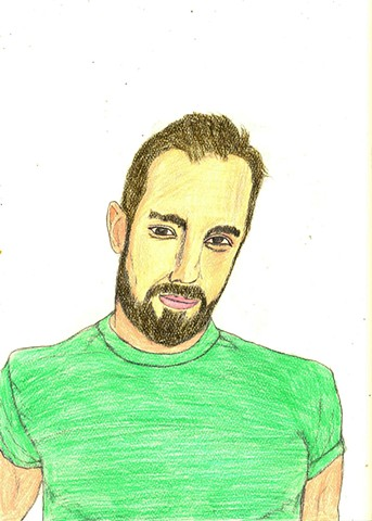 Drawing of actor Ivan Djurovic by Christopher Stanton