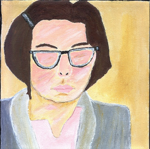 Painting of Adrian Pennino (Talia Shire)