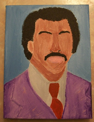 Acrylic painting of Apollo Creed (Carl Weathers) from the film Rocky by Christopher Stanton