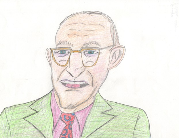Drawing of a grandpa by Christopher Stanton