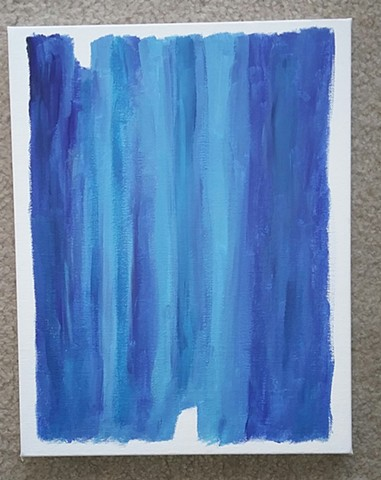 Blue abstract acrylic painting by Christopher Stanton