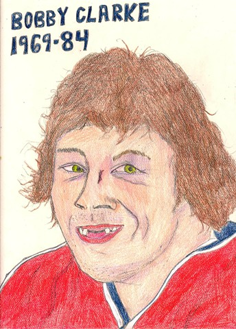 Portrait of hockey player Bobby Clarke of the Philadelphia Flyers by Christopher Stanton