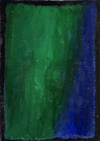Green and blue abstract painting by Christopher Stanton