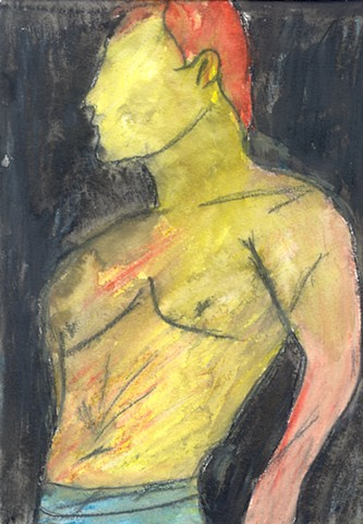 Drawing of a shirtless man by Christopher Stanton
