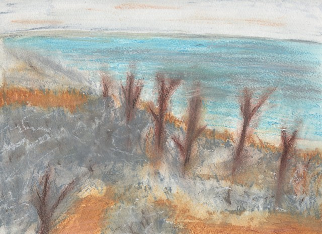 Drawing of Tuttle Creek Lake by Christopher Stanton