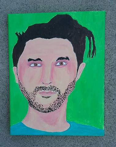 Acrylic painting of Jesus Yanez by Christopher Stanton