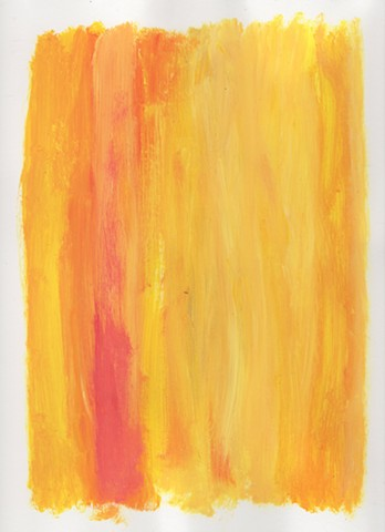 Yellow and orange abstract acrylic painting by Christopher Stanton