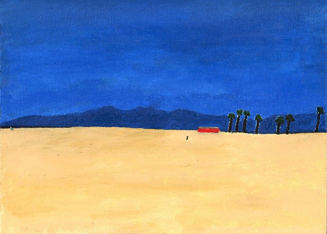 Acrylic painting of Dogtown Beach in Venice, CA by Christopher Stanton