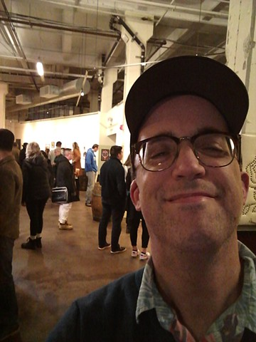 Artist Christopher Stanton at The Five Elements opening