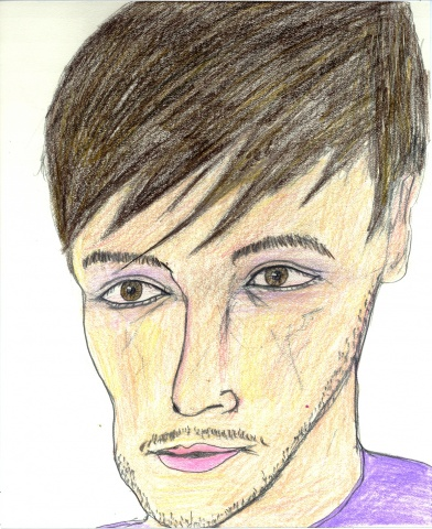 Drawing of Davidov from Myspace by Christopher Stanton