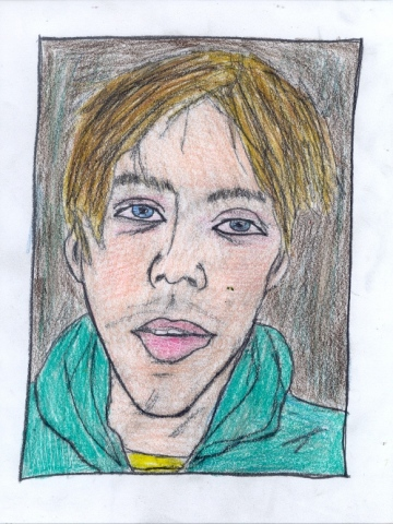 Drawing of artist Matt Furie by Christopher Stanton