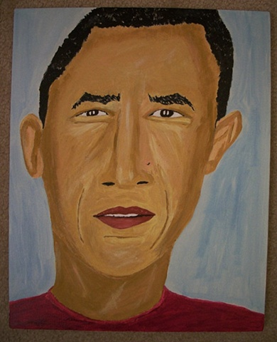 Painting of President Barack Obama by Christopher Stanton