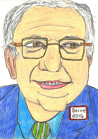 Drawing of Senator Bernie Sanders by Christopher Stanton