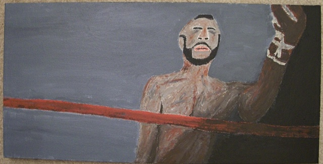 Acrylic painting of Clubber Lang (Mr. T) from the film Rocky III by Christopher Stanton