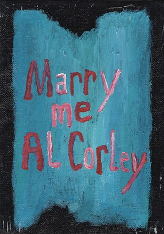 Acrylic text painting about actor Al Corley by Christopher Stanton