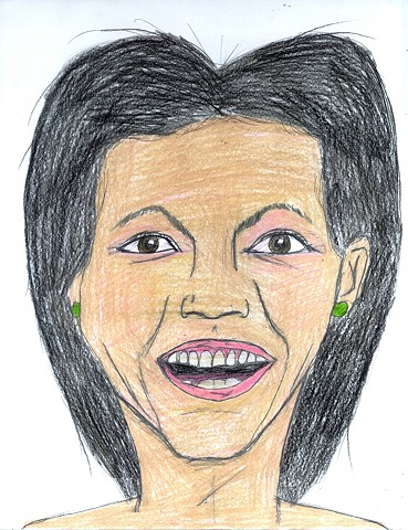 Colored pencil portrait of Michelle Obama by Christopher Stanton