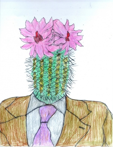 Drawing of a Cactusman by Christopher Stanton