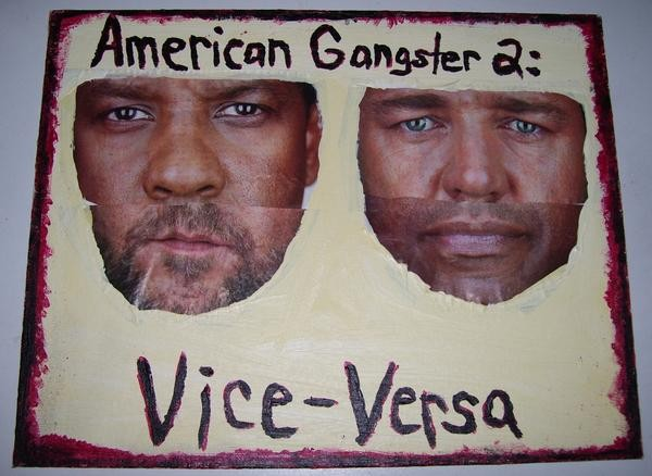 Mixed media art about American Gangster by Christopher Stanton