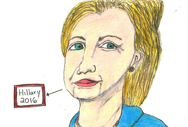 Drawing of Hillary Rodham Clinton by Christopher Stanton
