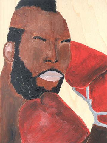 Acrylic painting of Clubber Lang (Mr. T) by Christopher Stanton
