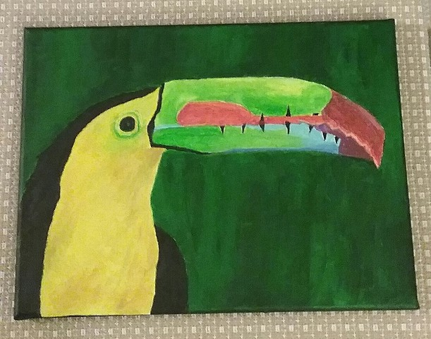 Painting of a toucan by Christopher Stanton