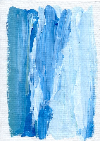 Blue and white abstract painting by Christopher Stanton