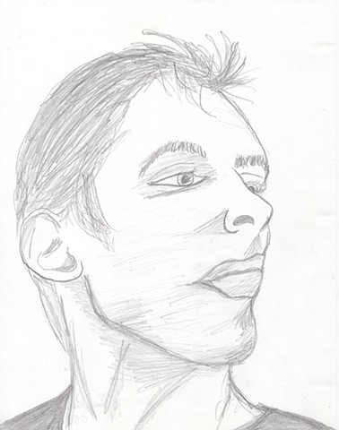 Pencil drawing of a young man by Christopher Stanton