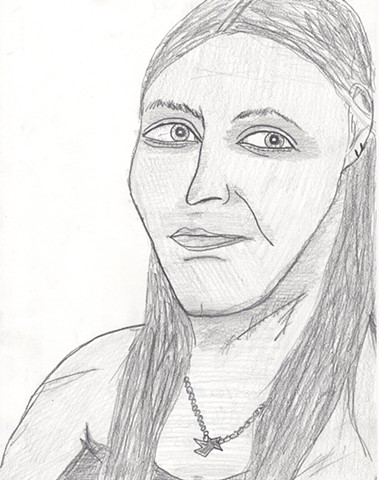 Pencil drawing of a young woman by Christopher Stanton