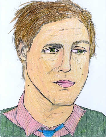 Drawing of director Spike Jonze by Christopher Stanton