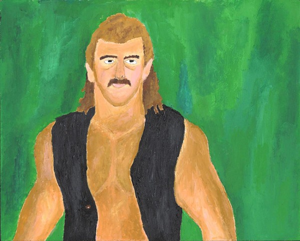 Acrylic painting of former pro wrestler Magnum T.A. (AKA Terry Wayne Allen) by Christopher Stanton