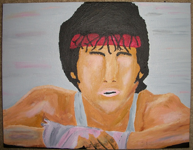 Painting of Rocky Balboa (Sylvester Stallone) from the film Rocky by Christopher Stanton