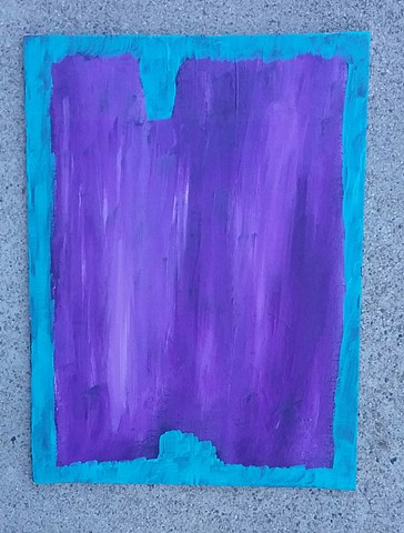 Purple abstract painting by Christopher Stanton