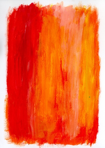 Red and orange abstract painting by Christopher Stanton