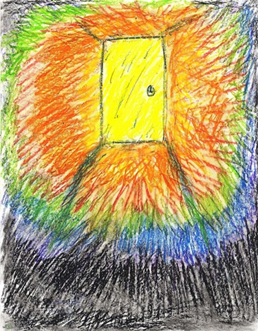 Pastel drawing of an astral door by Christopher Stanton