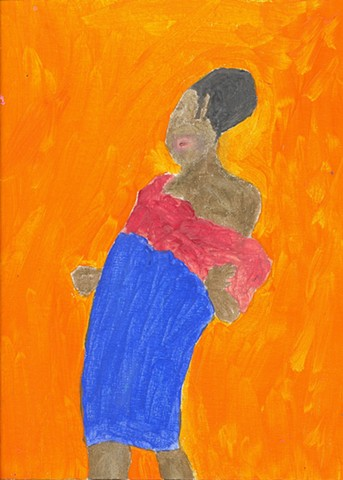 Acrylic painting of a jazz singer by Christopher Stanton