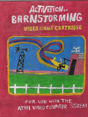 Acrylic painting of Activision's Barnstorming Box Cover by Christopher Stanton