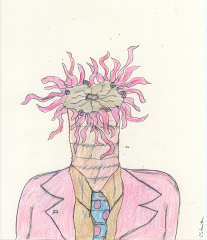 Drawing of an Anemone Man by Christopher Stanton
