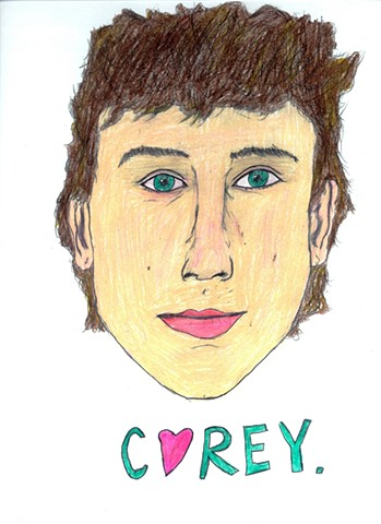 Drawing of actor Corey Haim by Christopher Stanton