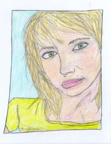Drawing of Amanda Egge by Christopher Stanton