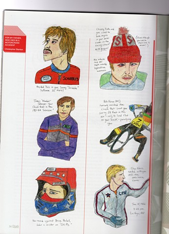 Drawings of Motocross Racers by Christopher Stanton