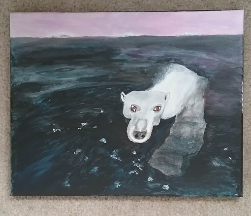 Acrylic painting of a polar bear by Christopher Stanton